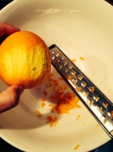 Sinaasappel raspen